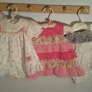Set of Three Size 3 Months Summer Baby Girls Dress